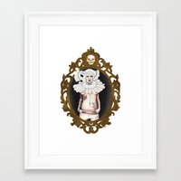 lucy Framed Art Prints featuring Lucy by Cisternas