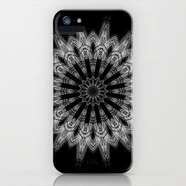 Black White Minimalist Mandala 3 iPhone Case