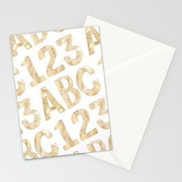 ABC 123 Stationery Cards
