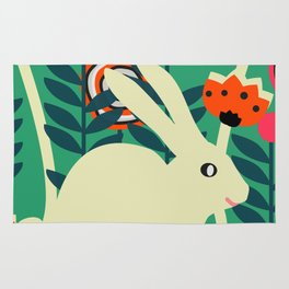 Little bunny in spring Rug