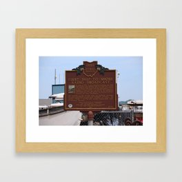 First Ship-to-Shore Radio Broadcast Framed Art Print