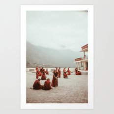Tibetan Monks Art Print