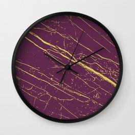 Magenta Purple & Green Sheen  Wall Clock