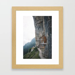 Carved into the Mountains. Framed Art Print