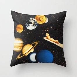 Planetary dream Throw Pillow