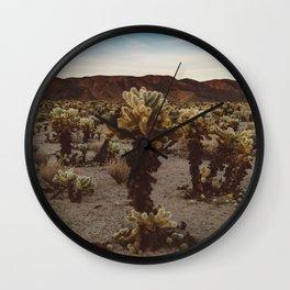 Cholla Cactus Garden XII Wall Clock