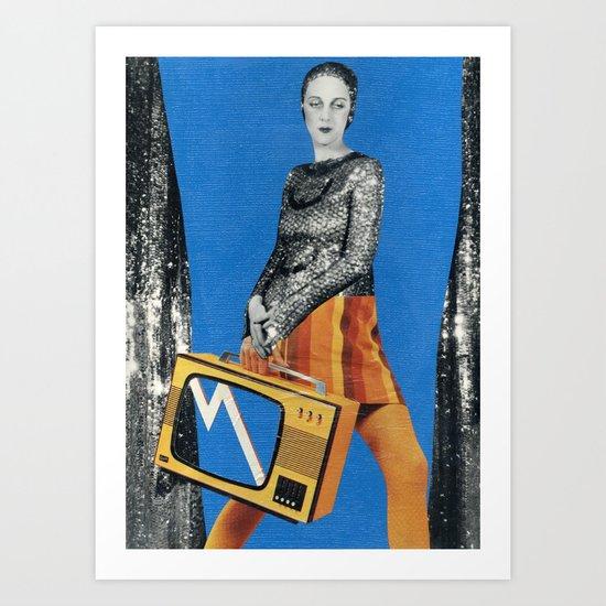 TV lady Art Print