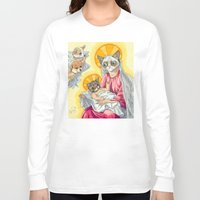 christ Long Sleeve T-shirts featuring Internet Christ  by Quigley Down Under