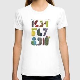 1 2 3 4 5 6 7 8 9 10 decimal numbers - by Genu WORDISIAC™ TYPOGY™ T-shirt