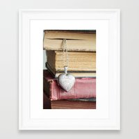 college Framed Art Prints featuring College Romance by Colleen Farrell