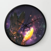 groot Wall Clocks featuring Groot by Aferova