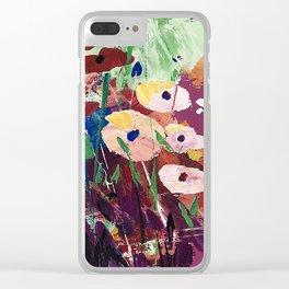Garden Delight Clear iPhone Case