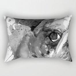 Black And White Half Faced English Bulldog Rectangular Pillow
