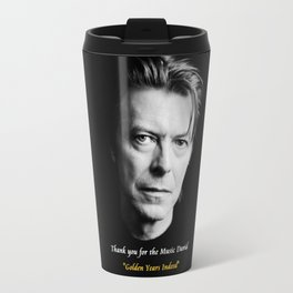 David Bowie,Golden Years Tribute, A Music Legend Travel Mug