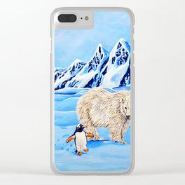 Unlikely Friends Clear iPhone Case