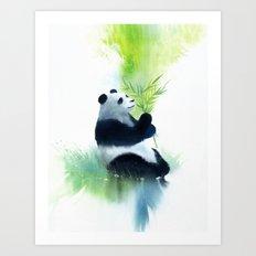 panda_bamboo Art Print
