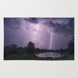 Storm Warning Lightning Strike Rug