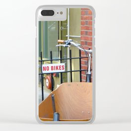 No Bikes Clear iPhone Case