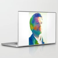 castiel Laptop & iPad Skins featuring Castiel  by mishainmydreams