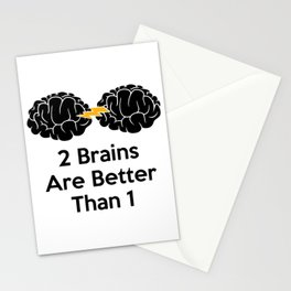 2 Brains Are Better Than 1 Stationery Cards