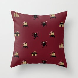 "Movie Patterns - ""Friday Martial Arts"" Throw Pillow"