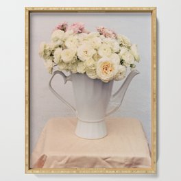 Pastel wedding roses Serving Tray