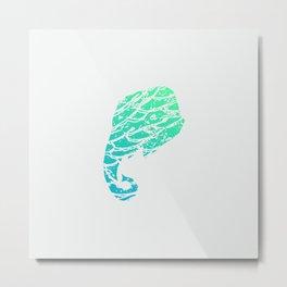 Elephant Sea Metal Print