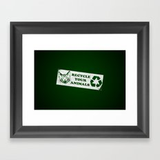 Recycle your animals - Fight club Framed Art Print