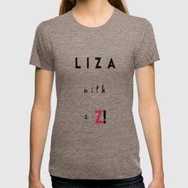 Liza with a Z T-shirt