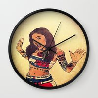 aaliyah Wall Clocks featuring One In A Million by Artistic