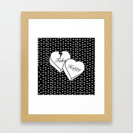 """Fake happy"" - Pmore Framed Art Print"