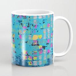 African Teal Blue Graphic Coffee Mug