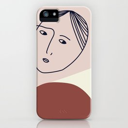 She's only inside her head iPhone Case