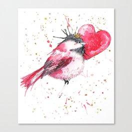 Princess Chicky Heart Canvas Print