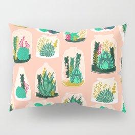 Terrariums - Cute little planters for succulents in repeat pattern by Andrea Lauren Pillow Sham