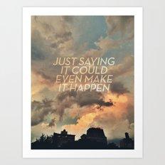 cloudbusting Art Print