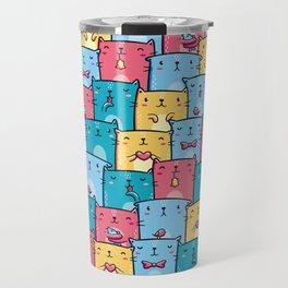 Colorful Cats Travel Mug
