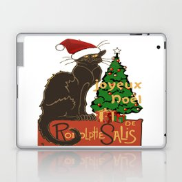 Joyeux Noel Le Chat Noir With Tree And Gifts Laptop & iPad Skin