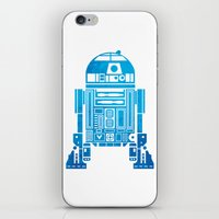 r2d2 iPhone & iPod Skins featuring R2D2 by Henrik Lund Mikkelsen