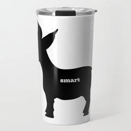 Smart! - Smart Donkey - Funny Art- Silhouette - 57 Montgomery Ave Travel Mug