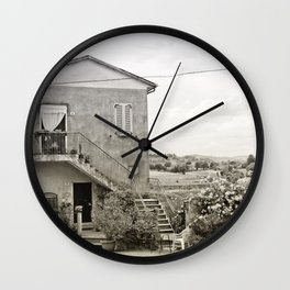 Living in the Italian countryside Wall Clock