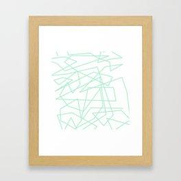 Minty Scwiggle Framed Art Print