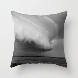 Cape Tryon Vortex Black and White Throw Pillow