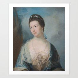 Circle of Allan Ramsay (1713-1784) Portrait of Miss Gibbs, half-length Art Print