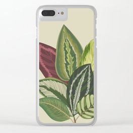 Leaves Trees Clear iPhone Case