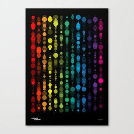 Colourful Universe - Rainbow Dots 1 Canvas Print
