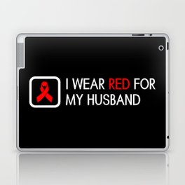 Red Ribbon: Red for my Husband Laptop & iPad Skin