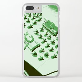 GREEN BATTALLION ON THE MARCH Clear iPhone Case