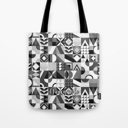 SQUARES BLACK Tote Bag