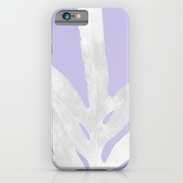 Green Fern on Lavender Inverted iPhone Case